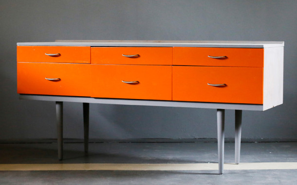 retro-orange-sideboard